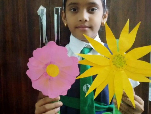 Flower Making Competition-Std III